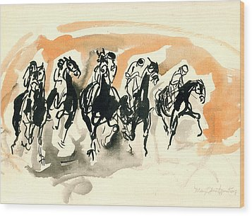 The Race Wood Print by Mary Armstrong