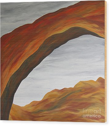 Wood Print featuring the painting The Rainbow Bridge V by Christiane Schulze Art And Photography