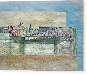 The Rainbow Room Wood Print