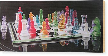 The Rainbow Warriors Wood Print by Susan Moyer