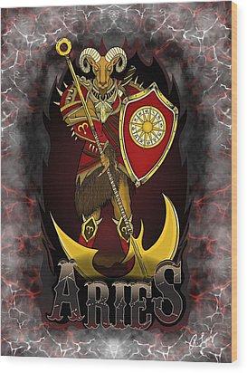 The Ram Aries Spirit Wood Print