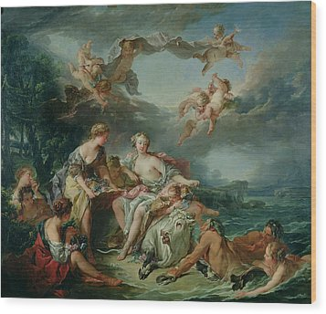 The Rape Of Europa Wood Print by Francois Boucher