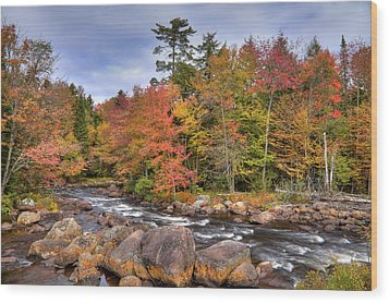 Wood Print featuring the photograph The Rapids On The Moose River by David Patterson