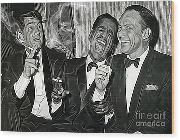 The Rat Pack Collection Wood Print
