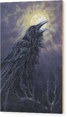 The Raven Called My Name Wood Print