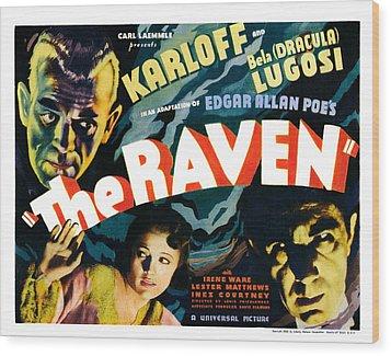 The Raven, From Left Boris Karloff Wood Print by Everett