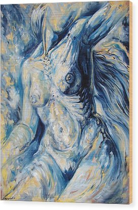 The Re-invention Of The Human Figure II Wood Print by Darwin Leon