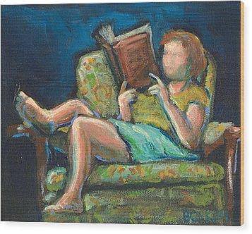 The Reader Wood Print by Buffalo Bonker