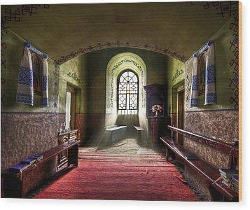 The Reading Room Wood Print by Evelina Kremsdorf