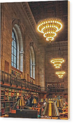 Wood Print featuring the photograph The Reading Room by Jessica Jenney