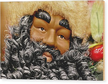 The Real Black Santa Wood Print