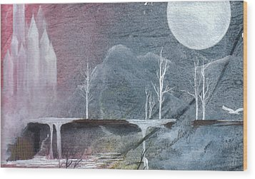 Wood Print featuring the painting The Realm Of Queen Astrid by Jackie Mueller-Jones