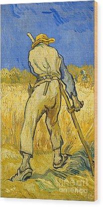 The Reaper Wood Print by Vincent van Gogh