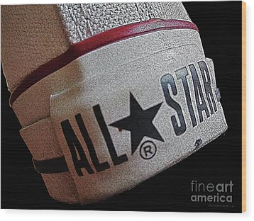 The Converse All Star Rear Label. Wood Print