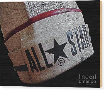 The Converse All Star Rear Label. Wood Print by Don Pedro De Gracia