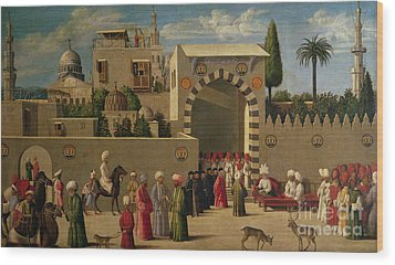 The Reception Of Domenico Trevisani In Cairo Wood Print by Italian School