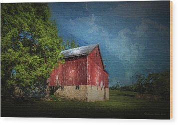 Wood Print featuring the photograph The Red Barn by Marvin Spates