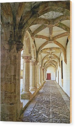 The Red Door In The Loggia Wood Print by Kirsten Giving