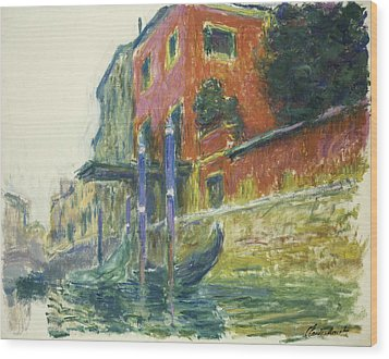 The Red House Wood Print by Claude Monet
