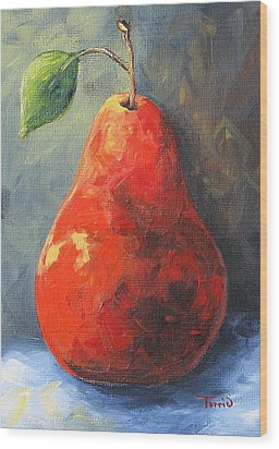The Red Pear II  Wood Print by Torrie Smiley