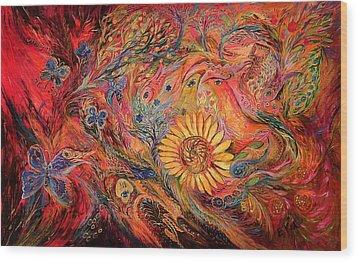 The Red Sirocco Wood Print by Elena Kotliarker