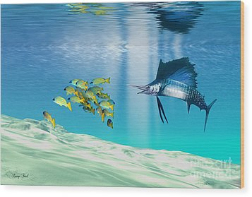 The Reef Wood Print by Corey Ford