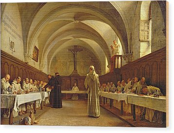 The Refectory Wood Print by Theophile Gide