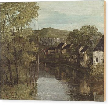 The Reflection Of Ornans Wood Print by Gustave Courbet