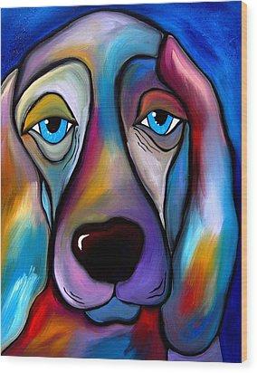The Regal Beagle - Dog Pop Art By Fidostudio Wood Print by Tom Fedro - Fidostudio