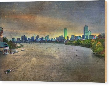 Wood Print featuring the photograph The Regatta - Head Of The Charles - Boston by Joann Vitali