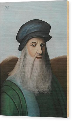 The Master Of Renaissance - Leonardo Da Vinci  Wood Print