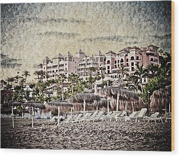 The Resort Beach Wood Print by Loriental Photography