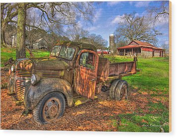 The Resting Place 2 Boswell Farm 1947 Dodge Dump Truck Wood Print