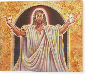 The Resurrection And The Life Wood Print by Raymond Walker