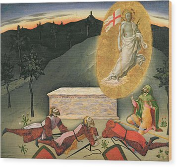 The Resurrection Wood Print by Master of the Osservanza