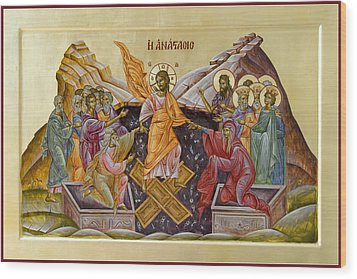 The Resurrection Of Christ Wood Print by Julia Bridget Hayes