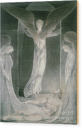 The Resurrection Wood Print by William Blake