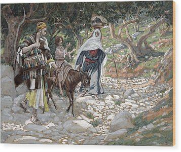 The Return From Egypt Wood Print by Tissot