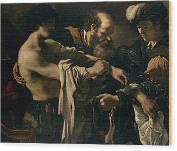 The Return Of The Prodigal Son Wood Print by Giovanni Francesco Barbieri