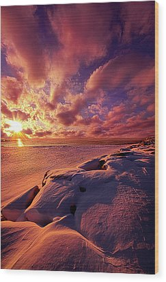 Wood Print featuring the photograph The Return by Phil Koch