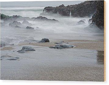The Revealed Shoreline Wood Print