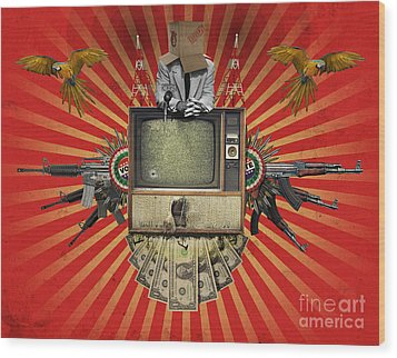 The Revolution Will Not Be Televised Wood Print