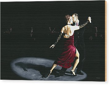 The Rhythm Of Tango Wood Print by Richard Young