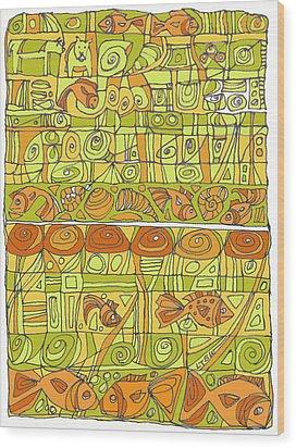 The Rhythm Of Things Wood Print by Linda Kay Thomas