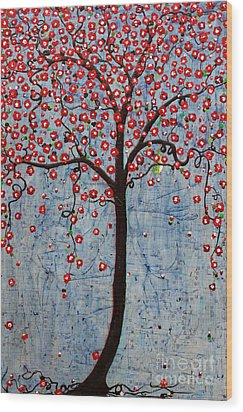 The Rhythm Tree Wood Print by Natalie Briney