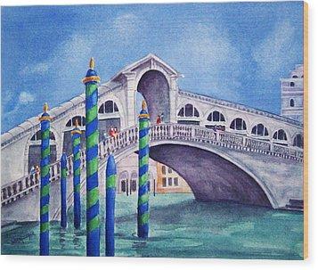 The Rialto Bridge Wood Print