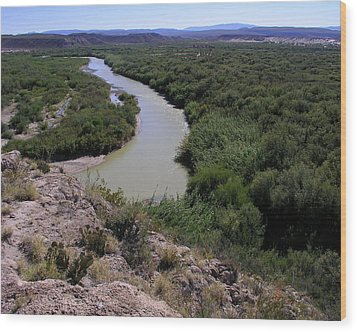 The Rio Grande River Wood Print by Karen Musick