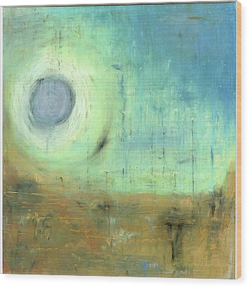 Wood Print featuring the painting The Rising Sun by Michal Mitak Mahgerefteh