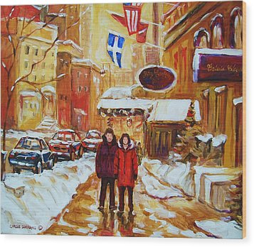 Wood Print featuring the painting The Ritz Carlton by Carole Spandau