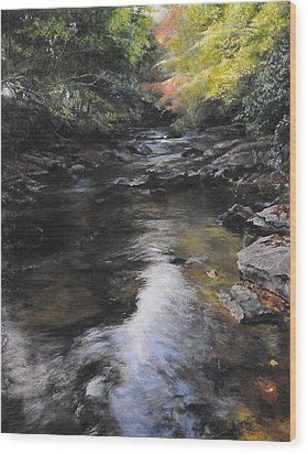 The River At Lady Bagots Wood Print by Harry Robertson